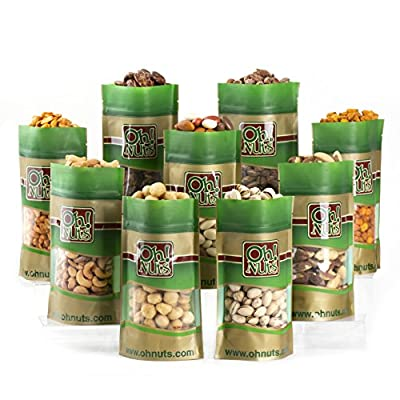 Fathers Day Mixed Nuts Gift Box - 9 Gourmet Varieteis 45 Oz - Oh! Nuts