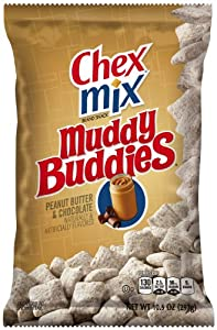 Chex Snack Mix, Muddy Buddies, Peanut Butter and Chocolate, 10.5 Ounce (Pack of 4)