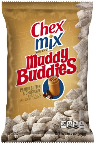 Chex Snack Mix, Muddy Buddies, Peanut Butter and Chocolate, 10.5 Ounce (Pack of 4) (Chex Mix Chocolate Peanut Butter compare prices)