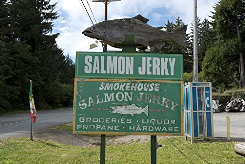 Americana-Photo-24x16-Salmon-Jerky-sign-in-Northern-California-Carol-Highsmith