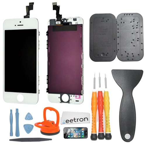 Iphone 5S (At&T/Verizon/Sprint) Premium Screen Replacement & Repair Kit - White