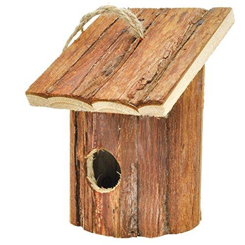 Gardirect Small Hanging Natural Birdhouse Wooden Garden