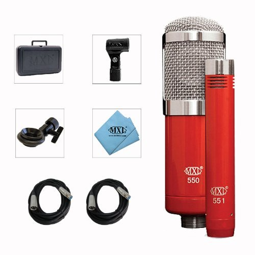 Mxl 550/551R Microphone Ensemble Pack With Xlr Cables