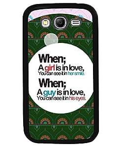 PRINTVISA Love Premium Metallic Insert Back Case Cover for Samsung Galaxy Grand Neo - I9060I - D6116