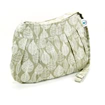 Sew Good and Trendy Organic Handmade Cross Body Sling Purse Kaki / Leaf