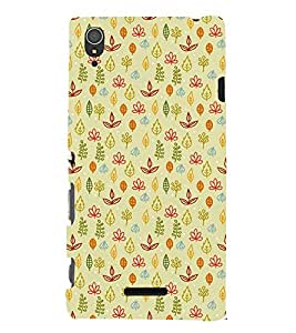ANIMATED FLORAL ETHNIC PATTERN 3D Hard Polycarbonate Designer Back Case Cover for Sony Xperia T3