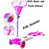 Four Wheel Swing Scooter Wheel Shake Scooty LADY BIRD With Lights And Music - B01FVY04VE