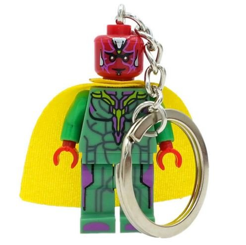 [SingleSale ActionFigures Keychain [Mr.Vision Mini Blocks] Educational Toys DIY Building Blocks] (Mr Gold Lego Costume)
