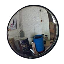 See All Circular Stainless Steel Outdoor Convex Security Mirror with Stainless Steel Back