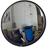 """See All SS14 Convex Mirror, Stainless Steel Face, Stainless Steel Back, Indoor Use, 14 """" Diameter"""