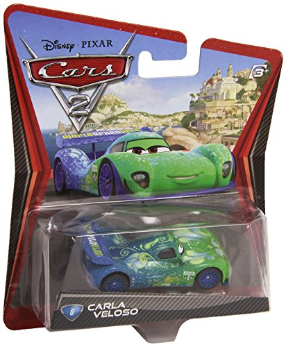 Disney/Pixar Cars 2 Movie Die-Cast Vehicle, Carla Veloso #8, 1:55 Scale - 1