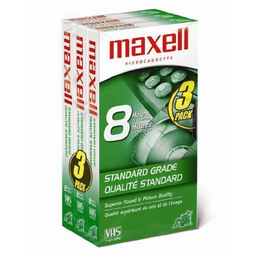 Review Of Maxell 213030 VHS T160 Standard Grade - 3 Pack