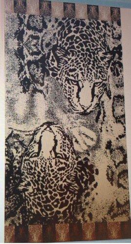 Egyptian Bedding Egyptian Cotton Jacquard Oversized Beach Towel, Wild Tiger