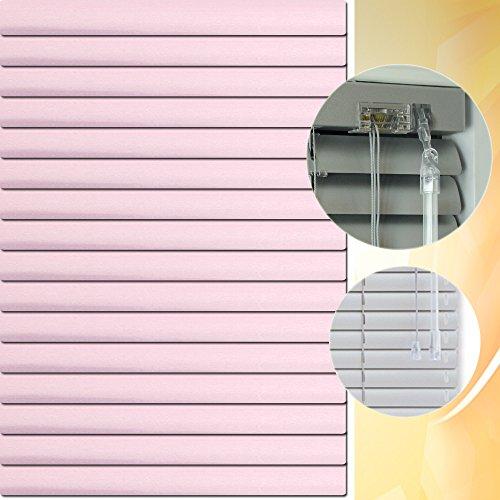 Aluminium Jalousie 215 x 120 cm (Breite x Höhe) – Lamellenfarbe 1410 pastelviolett chrom // Maßanfertigung Alu Jalousien Jalousette Rollo Plissee