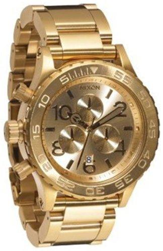 Nixon 42 20 Chrono Watch All Gold One Size Watch Nixon