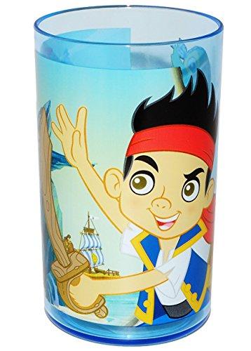 Kptn-Jake-die-Nimmerland-Piraten-3-in-1-Trinkbecher-Zahnputzbecher-Malbecher-Becher-durchsichtig-Trinkglas-aus-Kunststoff-Plastik-Mdchen-Jungen-Pirat-fr-Kinder-Kindergeschirr-Kinderbecher-Kinderglas-T