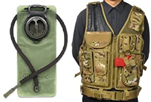 GMG-Global Military Gear Taccam Tactical Camo Scenario Military-Hunting Assault Vest... by GMG-Global Military Gear