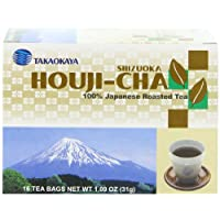 Takaokaya Tea, Hoji Cha Tea, 16-Count Tea Bags (Pack of 12)
