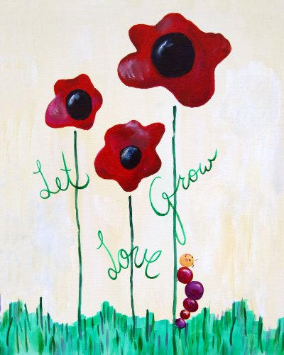 Cici Art Factory Wall Art, Let Love Grow, Small