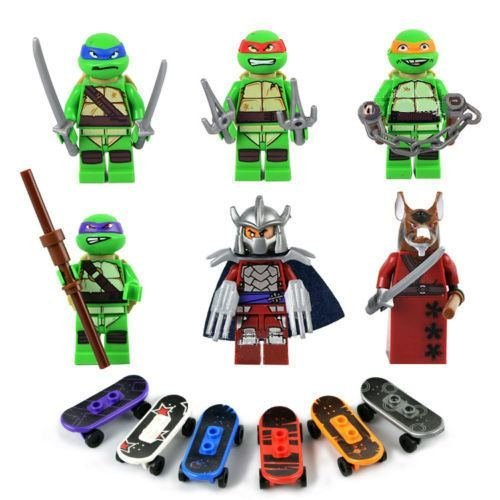 6pcs Teenage mutant MiniFigure Series Building blocks Toy