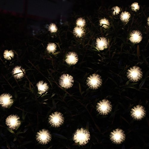 Innoo Tech**4.8M 20 LED Solar Decorative Chuzzle Ball Fairy Lights Ideal for your patio, garden, lawn, chrismas trees, parties, weddings and other celebrations-Warm White