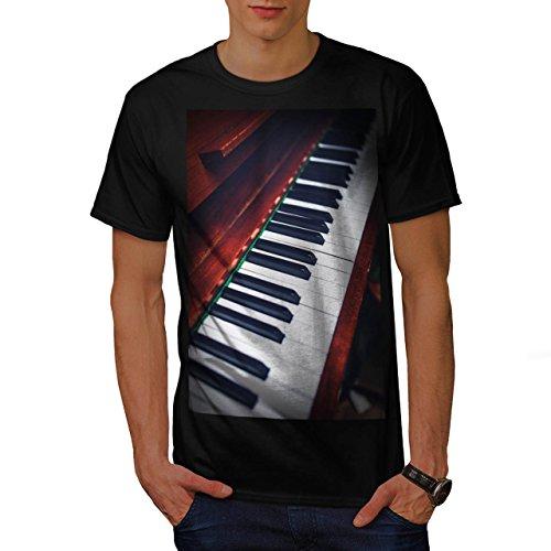 Klassisch-Klavier-Musik-Herren-NEU-Schwarz-S-5XL-T-shirt-Wellcoda