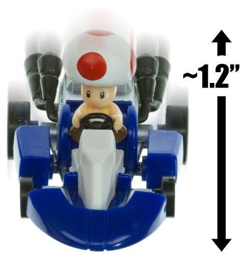 "Toad Kart ~1.2"" Mario Kart Pull Back Racer"