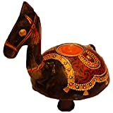 Jodhpur Summers Iron Camel-Shaped Candle Holder (8 X 6.5 X 5 Inches)