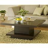 Furniture of America Celio Square Coffee Table, Cappuccino