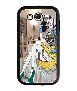 Fuson Smoking Girl Back Case Cover for SAMSUNG GALAXY GRAND NEO - D3998