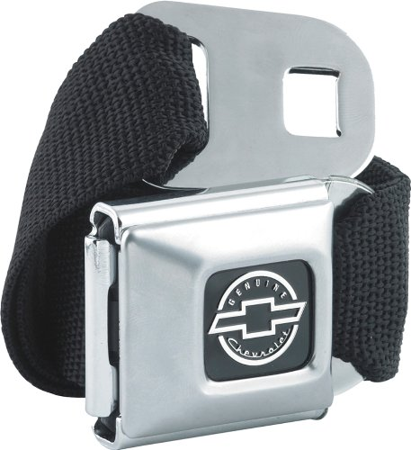 Chevrolet Seat Belt Style Canvas Web Belt and Buckle (Seatbelt Belt Black compare prices)