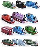 New 2015 12pcs/lot Thomas Mini Trains Figure Toys Thomas and His Friends Children's Educational Trains Toys boneka pahlawan anak