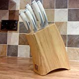 Richardson Sheffield Kyu Creme Professioneller Qualitäts-Messerblock, 5-teiliges Set mit cremefarbenem Messer-Set inkl. großem Santoku-Messer in japanischem Stil -