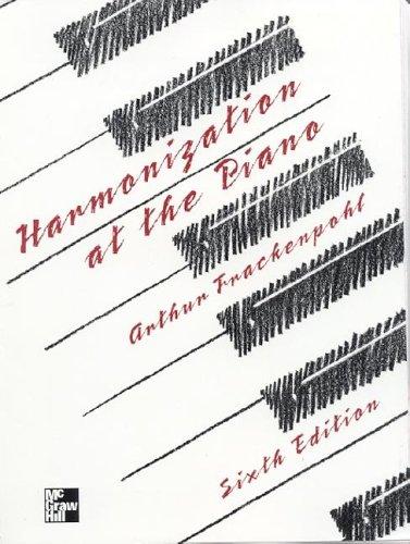 Harmonization at the Piano