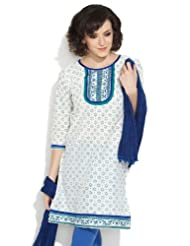 Lovely Lady Women's Cotton Serene Off White Kurta