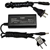 HQRP AC Power Adapter Charger Supply Cord for Canon FS200, FS20, FS21, FS22, FS30, FS300, FS31, XA10, FS40, FS400 Camcorder + Euro Plug Adapter