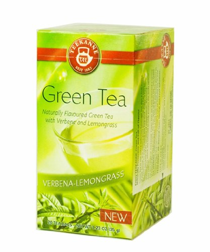 Teekanne Naturally Flavoured Green Tea Green Tea With Verbena And Lamongrass - 20 Count Bags