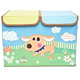 Foldable Storage Box Puppy Patch With Partition