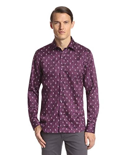 TR Premium Men's Long Sleeve Slim Fit Printed Shirt