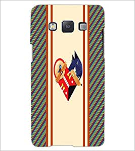 PrintDhaba Heart D-3213 Back Case Cover for SAMSUNG GALAXY A5 (Multi-Coloured)