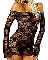 Ensembles Lingerie Nuisettes la lingerie / sexy Babydoll / vêtement de nuit / sous-vêtements sexy Ensembles sexy Couleur noir