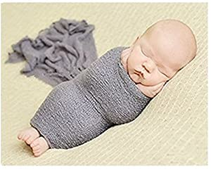 Luxury Stretch Newborn Boy Girl Baby Photography Props Wrap Yarn Cloth Blanket