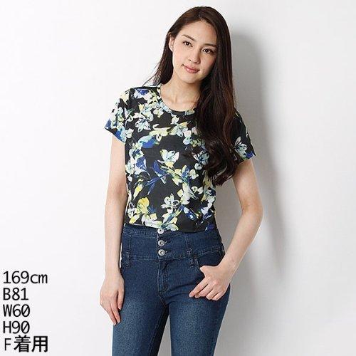 ムルーア(MURUA) Tシャツ(スプレッドフラワーショートT-SH)【ブラック/F】