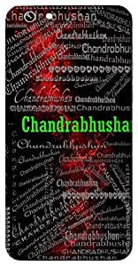 Chandrabhushan (Lord Shiva) Name & Sign Printed All over customize & Personalized!! Protective back cover for your Smart Phone : Moto X-Play