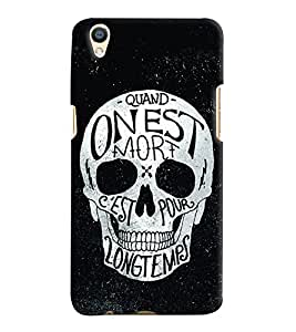Printvisa Slkeleton With Black Background Back Case Cover for Oppo F1 Plus::Oppo R9