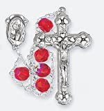 Ruby Jacob's Ladder Rosary from Italy