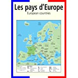 A3 homemade* French poster teaching aid / classroom resources - Europe/Les pays d'Europe (supplied folded to A4, NOT laminated), shows the European countries in Frenchby 123 Web Art
