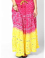 Soundarya Women Cotton Skirts -Pink -Free Size - B00MPU0PXU