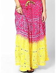 Soundarya Women Cotton Skirts -Pink -Free Size - B00MPU0PXU