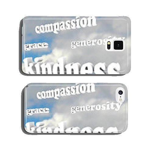 Kindness Words in Sky Compassionate Generous Background cell phone cover case iPhone5
